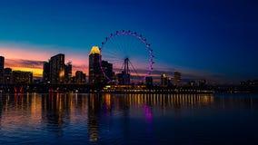 Ufergegendsonnenuntergang lizenzfreie stockfotos