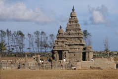 Ufertempel - Mamallapuram (Mahabalipuram), Indien stockfotos