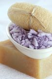 Uffa, Lavender Spa Sea Salt and handmade soap Royalty Free Stock Images