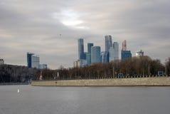 Uffici di affari della città di Mosca e complesso di appartamenti Fotografia Stock Libera da Diritti