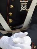 Ufficiale americano dei fanti di marina degli Stati Uniti Fotografie Stock Libere da Diritti
