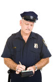 Ufficiale di polizia - biglietto di parcheggio Fotografie Stock