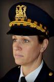 Ufficiale di polizia della donna Fotografie Stock