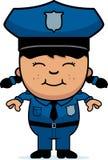 Ufficiale di polizia della ragazza Fotografia Stock Libera da Diritti