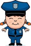 Ufficiale di polizia della ragazza Fotografie Stock