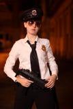 Ufficiale di polizia femminile Fotografia Stock