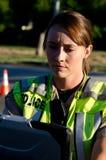 Ufficiale di polizia femminile fotografie stock libere da diritti