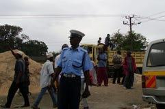 Ufficiale di polizia keniano Fotografia Stock