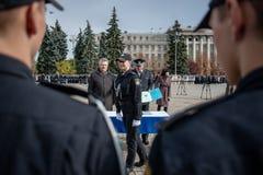 Ufficiale di polizia Oath Immagine Stock