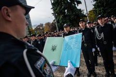 Ufficiale di polizia Oath Immagini Stock Libere da Diritti