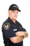 Ufficiale di polizia - sospettoso Immagini Stock Libere da Diritti