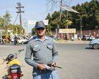 Ufficiale di polizia stradale Fotografie Stock