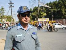 Ufficiale di polizia stradale Immagini Stock Libere da Diritti
