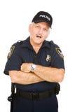 Ufficiale di polizia - stupito fotografia stock libera da diritti