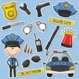 Ufficiale di polizia With Tools Fotografia Stock