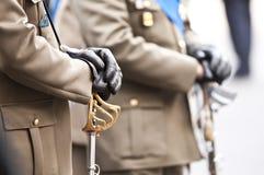 Ufficiali di esercito italiani Fotografie Stock Libere da Diritti
