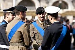 Ufficiali di esercito italiani Immagini Stock