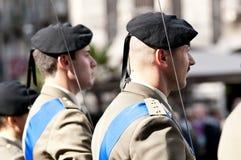 Ufficiali di esercito italiani Fotografia Stock