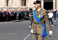 Ufficiali di esercito italiani Immagine Stock Libera da Diritti