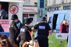 Ufficiali di polizia di Cornovaglia e di Devon Fotografia Stock Libera da Diritti