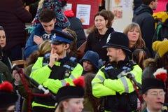 Ufficiali di polizia di Cornovaglia e di Devon Immagini Stock Libere da Diritti