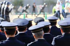 Ufficiali di polizia giapponesi Fotografie Stock