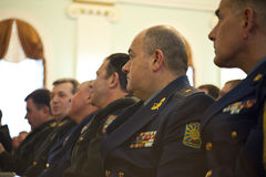 Ufficiali ucraini Fotografie Stock