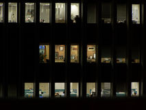 Ufficio alla notte Fotografia Stock
