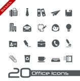 Ufficio & principi fondamentali delle icone di affari Immagine Stock