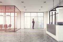 Ufficio bianco, reception tonificata Immagine Stock