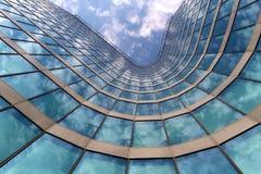 Ufficio blu Fotografia Stock Libera da Diritti