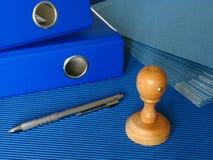 Ufficio blu fotografia stock