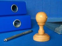 Ufficio blu immagini stock