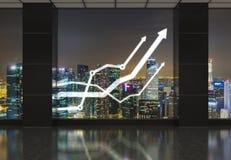 Ufficio con le frecce Fotografia Stock Libera da Diritti