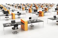 Ufficio contemporaneo dello spazio aperto illustrazione di stock