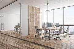 Ufficio coworking di legno contemporaneo royalty illustrazione gratis