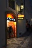 Ufficio del cambiamento dei soldi Fotografia Stock Libera da Diritti