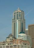 Ufficio del centro di Seattle ed edifici residenziali Fotografia Stock Libera da Diritti