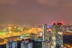 Ufficio del centro urbano di Singapore di vista aerea e buildin residenziale Immagine Stock Libera da Diritti