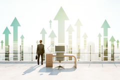 Ufficio del tetto, concetto di successo Fotografia Stock Libera da Diritti