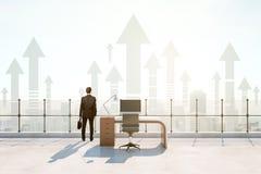 Ufficio del tetto, concetto di successo Immagini Stock Libere da Diritti
