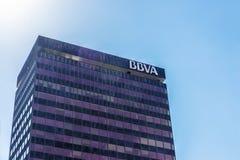 Ufficio della banca di BBVA, Spagna Fotografia Stock Libera da Diritti