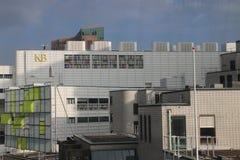Ufficio della biblioteca reale nel centro urbano di Den Haag nei Paesi Bassi fotografia stock libera da diritti