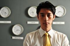 Ufficio di affari con gli orologi - 5 Immagini Stock