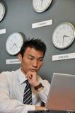 Ufficio di affari con gli orologi 75 Fotografie Stock