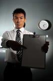 Ufficio di affari con l'orologio 136 Fotografia Stock