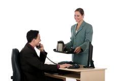 Ufficio di affari dell'intervallo per il caffè Fotografia Stock