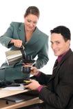Ufficio di affari dell'intervallo per il caffè Immagine Stock Libera da Diritti