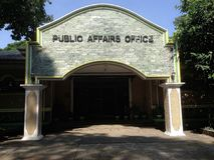 Ufficio di affari pubblici, CLSU, Filippine immagine stock libera da diritti