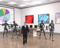 Ufficio di affari, tecnologia, robot, vendite Fotografia Stock Libera da Diritti